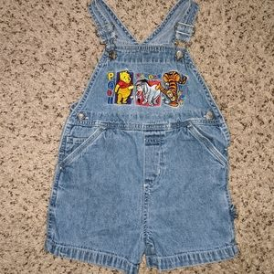Vintage Pooh and Friends Overall Shorts